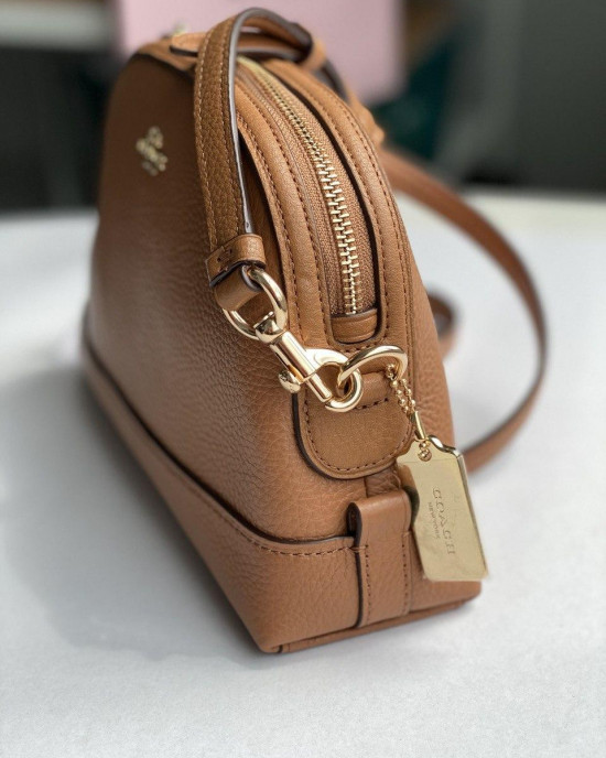 COACH DOME CROSSBODY  (LIGHT SADDLE)