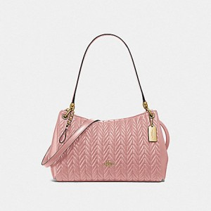 COACH SMALL MIA SHOULDER BAG WITH QUILTING (PINK PETAL)