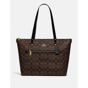 COACH GALLERY TOTE IN SIGNATURE CANVAS (BROWN/BLACK)  - ESTIMATED TIME ARRIVAL (ETA) 26 APRIL 2021