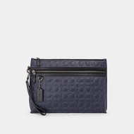 COACH CARRYALL POUCH WITH SIGNATURE QUILTING (NI/MIDNIGHT)