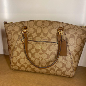 COACH SIGNATURE PRAIRIE SATCHEL (IM/KHAKI/SADDLE 2) - ETA (ESTIMATED TIME ARRIVAL) MALAYSIA 7 MARCH