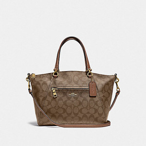 COACH PRAIRIE SATCHEL IN SIGNATURE (IM/KHAKI/SADDLE 2)