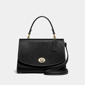 COACH TILLY TOP HANDLE SATCHEL (BLACK)