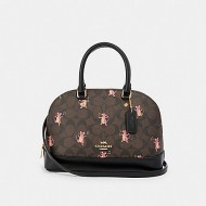 COACH MINI SIERRA SATCHEL IN SIGNATURE CANVAS WITH PARTY MOUSE PRINT