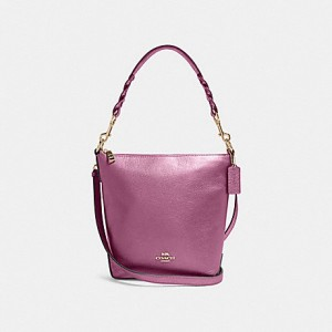 COACH MINI ABBY DUFFLE (SV/METALLIC BERRY)