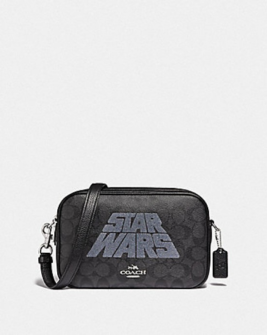 COACH STAR WARS X COACH JES CROSSBODY IN SIGNATURE CANVAS WITH PATCHES (QB/KHAKI MULTI)