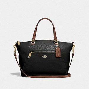 COACH PRAIRIE SATCHEL (IM/BLACK/SADDLE)