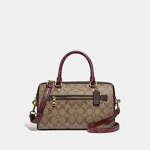 COACH ROWAN SATCHEL IN SIGNATURE CANVAS (IM/KHAKI MULTI)
