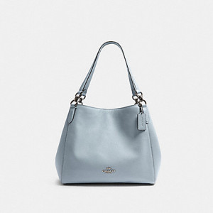 COACH HALLIE SHOULDER BAG (SV/PALE BLUE)