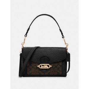 COACH JADE MESSENGER WITH SIGNATURE (IM/BROWN/BLACK)