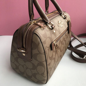 PRE ORDER - COACH ROWAN SATCHEL IN SIGNATURE CANVAS (IM/KHAKI/BLACK)