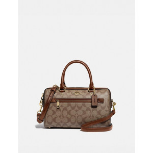 COACH ROWAN SATCHEL IN SIGNATURE CANVAS (IM/KHAKI/SADDLE2)