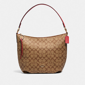 COACH SKYLAR HOBO IN SIGNATURE CANVAS (IM/KHAKI POPPY)