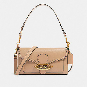 COACH SMALL JADE SHOULDER BAG WITH WHIPSTITCH (OL/TAUPE)
