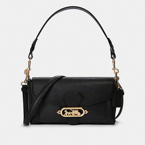 COACH SMALL JADE SHOULDER BAG (IM/BLACK)