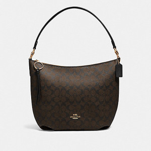COACH SKYLAR HOBO IN SIGNATURE CANVAS (IM/BROWN/BLACK)