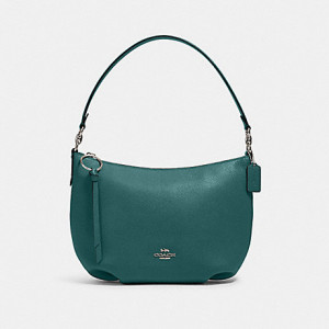 COACH SMALL SKYLAR HOBO (SILVER/DARK TURQUOISE)