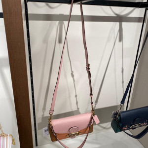 COACH SMALL JADE SHOULDER BAG IN COLORBLOCK (OL/BLOSSOM MULTI)