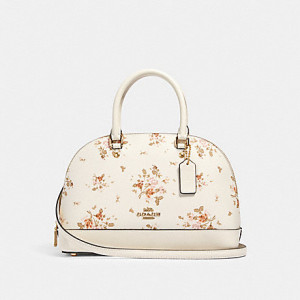 COACH MINI SIERRA SATCHEL WITH ROSE BOUQUET PRINT (IM/CHALK/MULTI) - ETA (ESTIMATED TIME ARRIVAL) MALAYSIA 16 JUNE