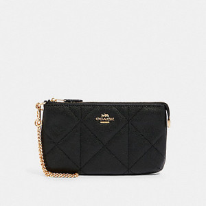 COACH LARGE WRISTLET WITH QUILTING (IM/BLACK)