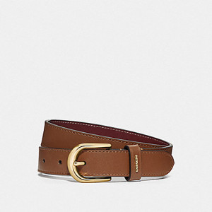COACH CLASSIC BELT (IM/SADDLE/WINE)