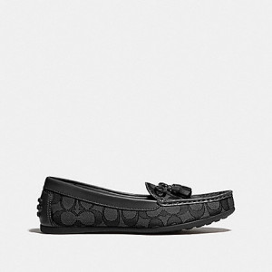COACH GREENWICH LOAFER (BLACK SMOKE/BLACK) - SIZE 5.5B