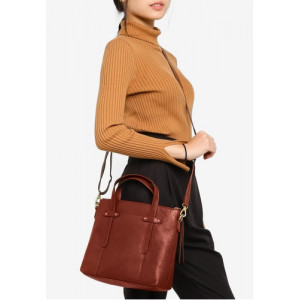 FOSSIL Felicity Satchel (BROWN)