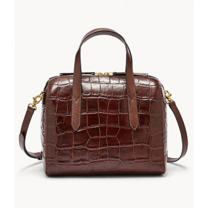 FOSSIL Sydney Satchel (BROWN CROCO)