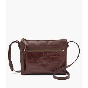 FOSSIL Felicity Crossbody (BROWN CROCO)