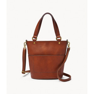 FOSSIL Amelia Small Bucket Bag (BROWN)