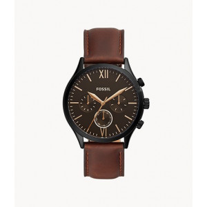 FOSSIL Fenmore Midsize Multifunction Brown Leather Watch (BQ2453)