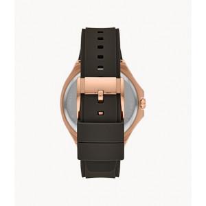 FOSSIL Evanston Multifunction Black Silicone Watch (BQ2612)