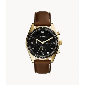FOSSIL Wilkin Multifunction Brown Leather Watch (BQ2615)