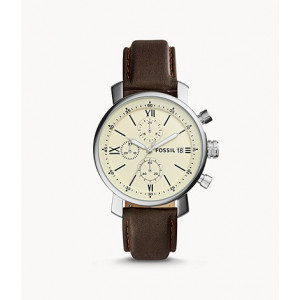 FOSSIL Rhett Chronograph Brown Leather Watch (BQ1007)