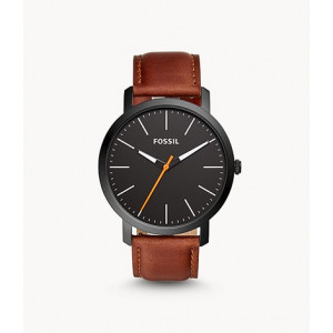 FOSSIL Luther Three-Hand Brown Leather Watch (BQ2310IE)