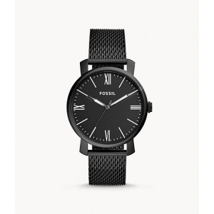 FOSSIL Rhett Three-Hand Black Stainless Steel Watch (BQ2369)