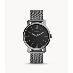 FOSSIL Rhett Three-Hand Smoke Stainless Steel Watch (BQ2370)