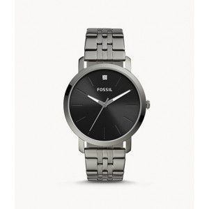 FOSSIL Lux Luther Three-Hand Smoke Stainless Steel Watch (BQ2419)