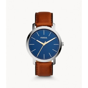 FOSSIL Luther Three-Hand Brown Leather Watch (BQ2311IE)