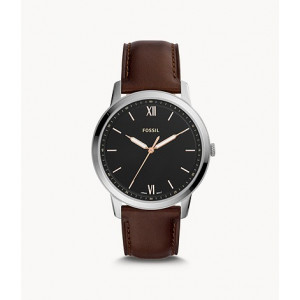 FOSSIL The Minimalist Three-Hand Brown Leather Watch (FS5464)