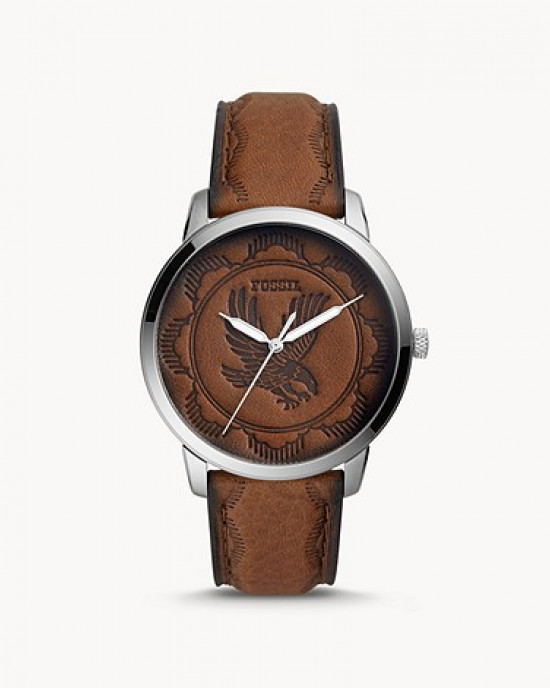 FOSSIL Neutra Three-Hand Brown Leather Watch (FS5543)