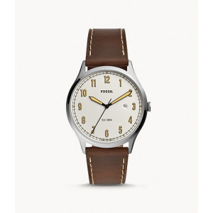 FOSSIL Forrester Three-Hand Date Brown Leather Watch (FS5589)