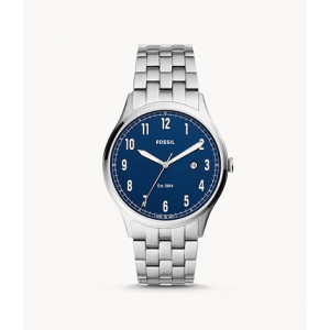 FOSSIL Forrester Three-Hand Date Stainless Steel Watch (FS5593)