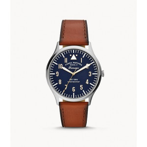 FOSSIL Forrester Three-Hand Luggage Leather Watch (FS5611)
