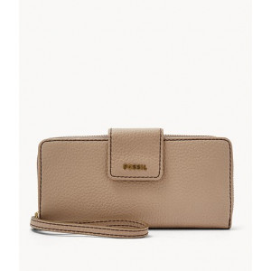 FOSSIL Madison Zip Clutch (TAUPE)