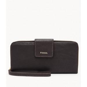 FOSSIL Madison Zip Clutch (BLACK)