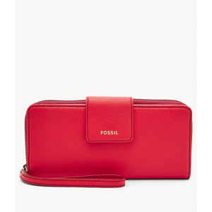 FOSSIL Madison Zip Clutch (BRICK RED)