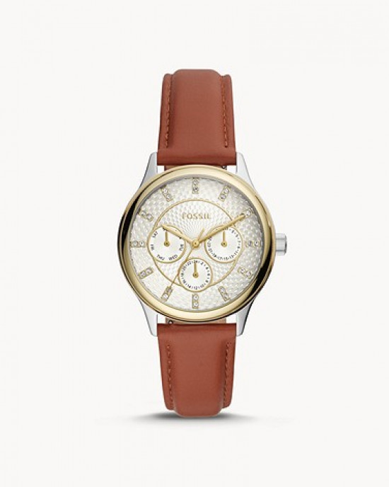 FOSSIL Modern Sophisticate Multifunction Brown Leather Watch (BQ3408)