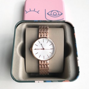 FOSSIL WATCH SM RD RG WH BQ3463 (ROSE GOLD)