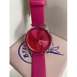 FOSSIL Cambry Three-Hand Pink Leather Watch (BQ3589)